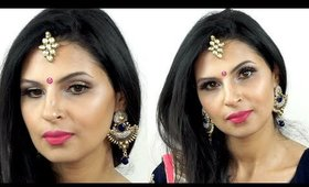 Eid Makeup Tutorial 2016 | Hot Pink Lips and Gold Eyes | Manisha Moments