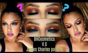 un OJO con BH Cosmetics y otro con JAMES CHARLES palette mini  | auroramakeup