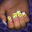 3D acrylic flower nails