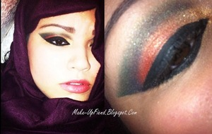 Arab Inspired Makeup for a contest!
