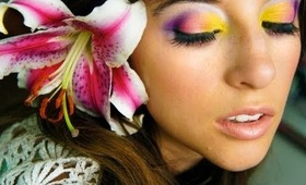 Tropical Sunset Inspired Tutorial