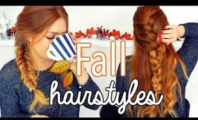 3 QUICK & SIMPLE FALL HAIRSTYLES | CarolaneCP