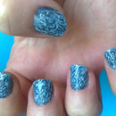 Notd:Blue jeans nails