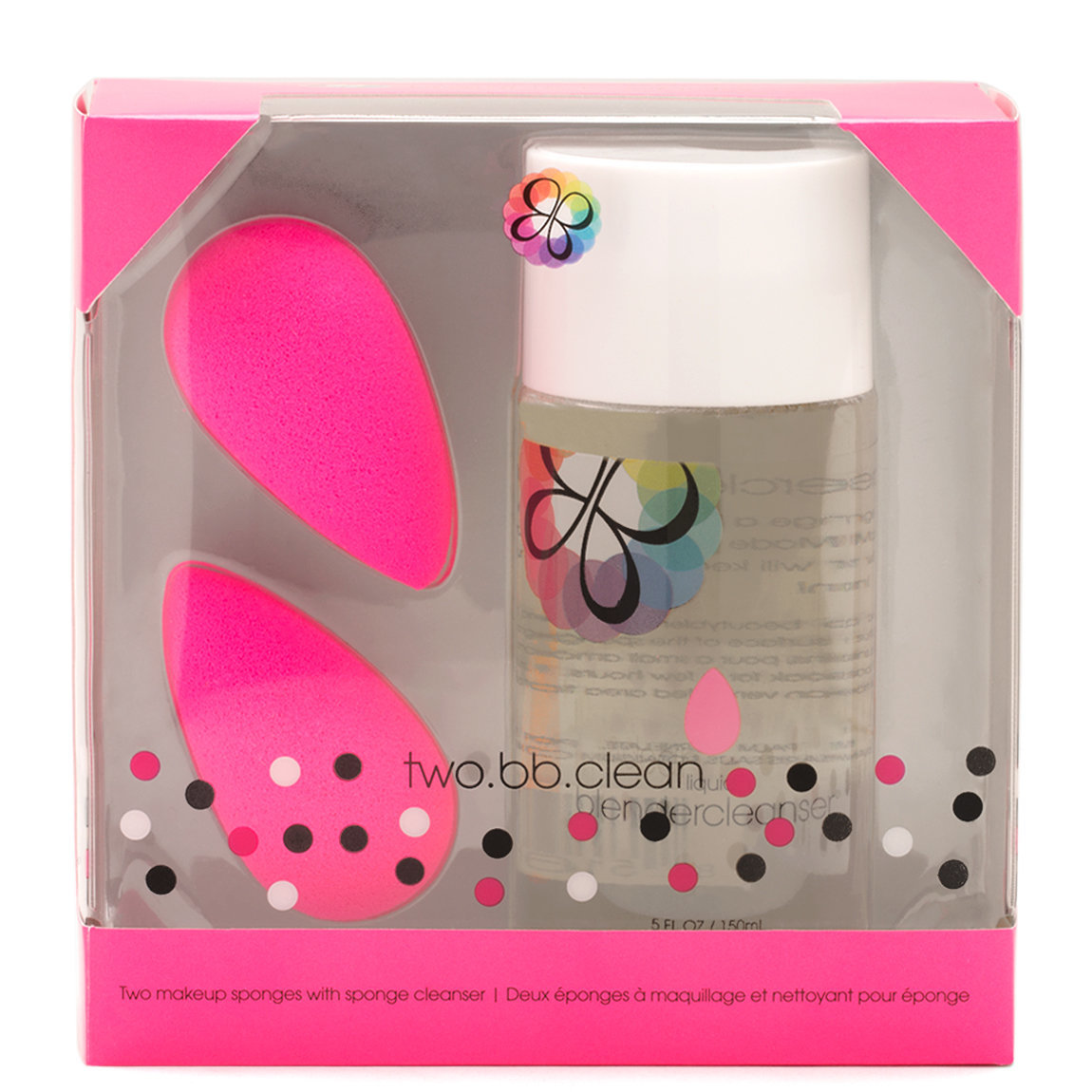 beautyblender two.bb.clean product smear.