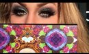 Smokey Blue Glittery Hues Makeup Tutorial FT. Urban Decay Alice Through the Looking Glass Pallet