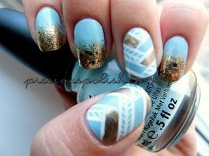 blue + gold : fishtails + glitter