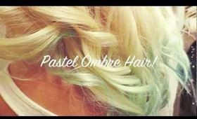 DIY Pastel Blue Ombre Hair Tutorial :)