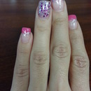 Pink and Silver Statement Nails