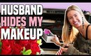 HUSBAND HIDES MY MAKEUP CHALLENGE || Full Face Makeup Tutorial