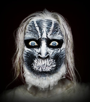 Halloween is coming! 🎃 I'm sure you all now Game of Thrones and the White Walkers. 👻 here's my interpretation. I didn't use anything prosthetics, just some @mehronmakeup paradise paints in white and black (for face and hair) and some cotton sticked on liquid latex covered with white facepaint. Everything was done with only 2 brushes.