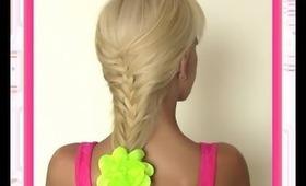 Mermaid Braid   Homecoming Hairstyle   Braids