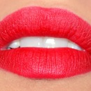 Retro matte red lips