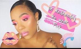 #Drugstore Pink Eyeshadow look | #WetnWild | leiydbeauty