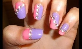 PINK AND PURPLE NAIL ART TUTORIAL!