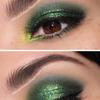 """Lucky Glitter Clovers"" Smokey Eye"