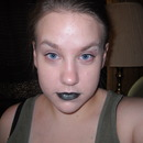 Black and Teal Lips for Fall