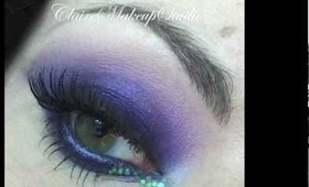 Make-up tutorial : Dramatic smoky purple eyes