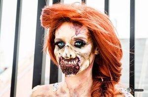 Zombie Ariel  Comiconn 2014  Photo Credit: Jesse Newman  Model: IG She_loves_fx @Julia Williams   #makeup #fxmakeup #halloween #zombie #disney #disneyprincess #princess #ariel #halloween #cosplay #costume