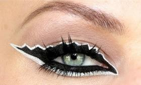 Monochrome Zig Zag Eyeliner Makeup