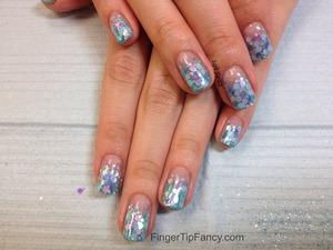DETAILS HERE - http://fingertipfancy.com/mermaid-nails
