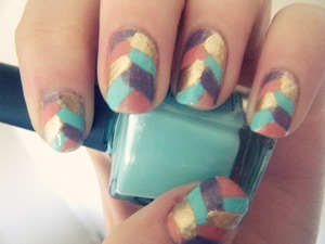 so apparently these are called 'braided' nails? looks a bit like fishtail ;D I wear this colour so much, I feel like I should give my other colours a turn!  it was done using only the brushes that came with nail polish bottles (: