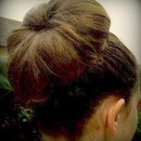 High bun without dohnut