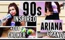 90s Inspired Ariana Grande Hair, Makeup & Outfit + DIY Choker! (Get The Look)