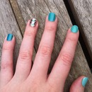 Turquoise/teal ombre skittles