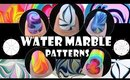 WATER MARBLE PATTERNS #1 | HOW TO BASICS | NAIL ART DESIGN TUTORIAL BEGINNER EASY SIMPLE