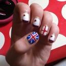 Union flag nails