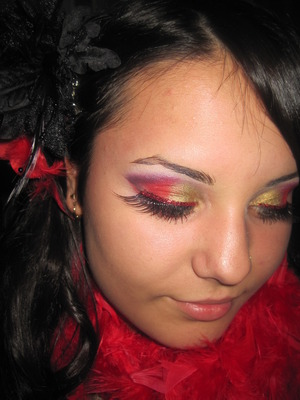 halloween makeup - by me for party