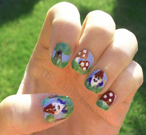 Gnome nails done for Nicole M :)