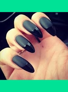 Matte Black Nails With French Tips Angie N S Photo Beautylish
