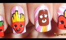 Kawaii Food Nail Art collaboration with lalapinkgreen / Diseño de uñas