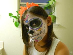 my lil girls  sugar skull look