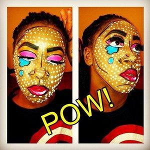 Pop Art Inspired Makeup look