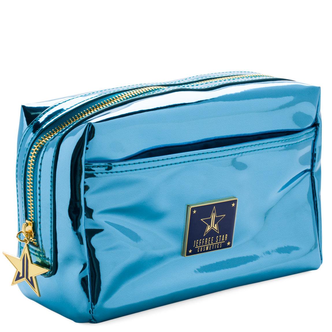 Jeffree Star Cosmetics Makeup Bag Reflective Light Blue product swatch.