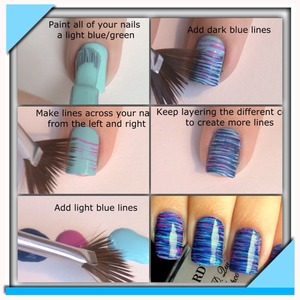 Easy beautiful fan brushed nails