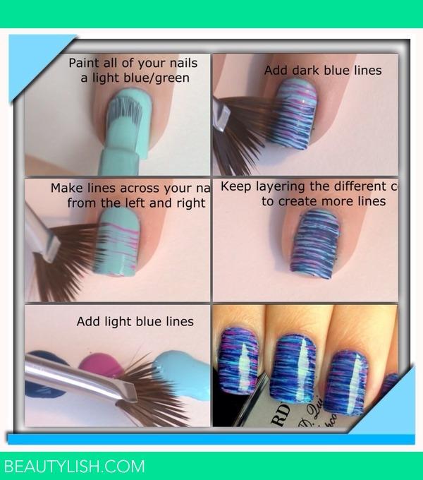 Fan Brush Nails | Lucy J.\'s Photo | Beautylish