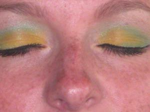 I love doing my best friends makeup i call this Lemon Lime