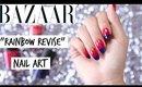 RAINBOW REVISE NAIL ART | #theList Harper's Bazaar inspo