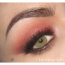 Summer Sunset - Warm Coral Smoky Eye makeup