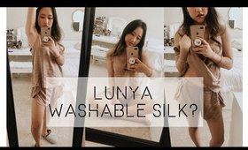 lunya washable silk(?!) sleepwear review ● ever so cozy