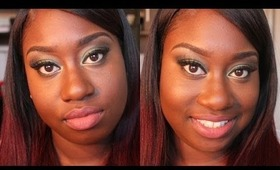 Get Ready With Me: Green Smokey Eyes + Nude Lpis