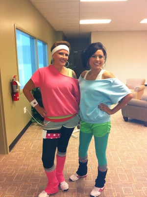 Me and my bestie Jodi! We wanna get physical... physical!