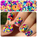 Abstract Floral - Nailspiration from Forever 21