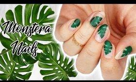 Minimalistic Monday No. 24   Monstera/ Leaves Nails ♡
