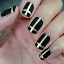 Gold Metallic Cross Nails