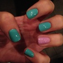 Mint and Lilac nails