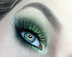 Here is a close up of my Buttercupcake eye makeup (:! Step by step pictorial is up on my blog as of now. http:/http://theyeballqueen.blogspot.com/2016/04/power-puff-girls-shimmery-green-and.html
